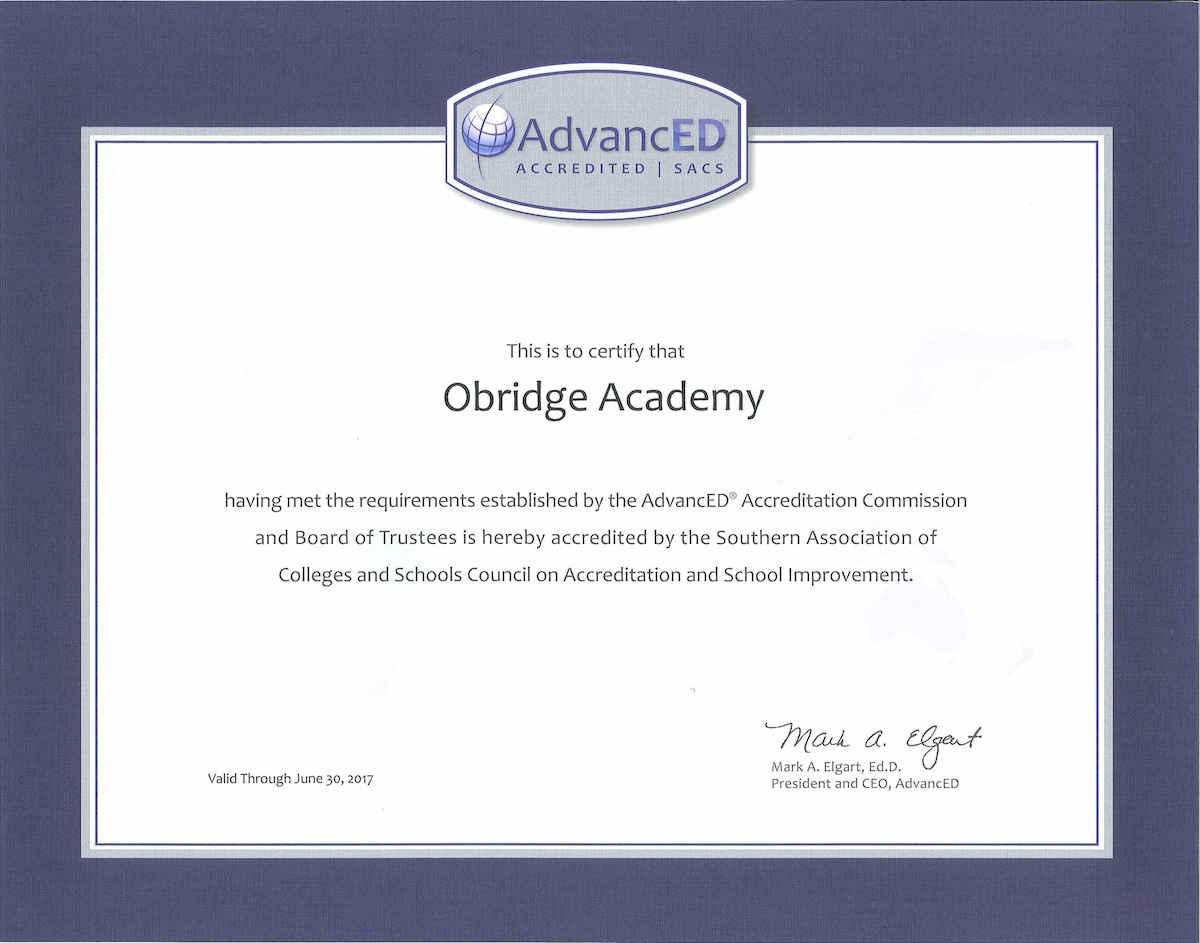 Obridge_Accreditation_Cert